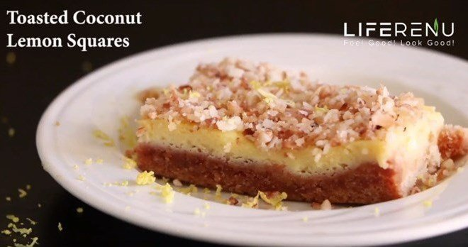 Keto Lemon Bars With Coconut Flour