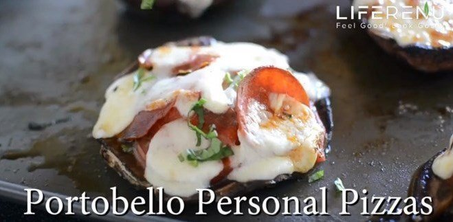 Portobello Mushroom Pizza Low Carb