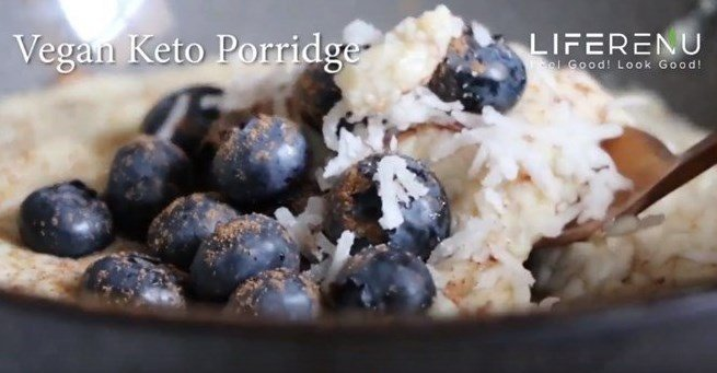 Vegan Keto Porridge Breakfast
