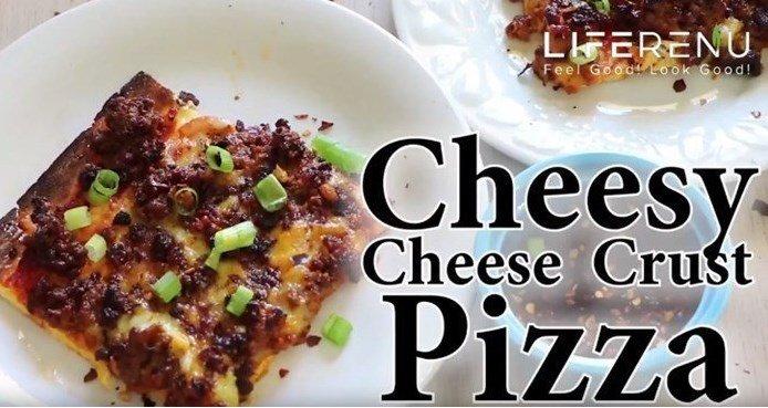 Cheesy Cheese Crust Pizza