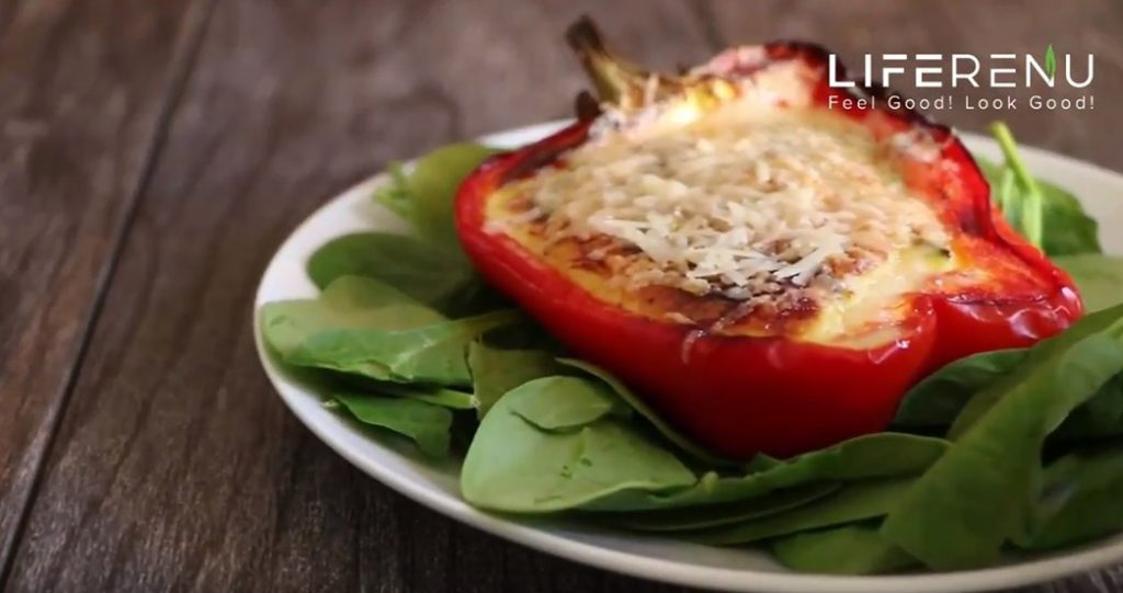 Stuffed Peppers With Egg And Cheese