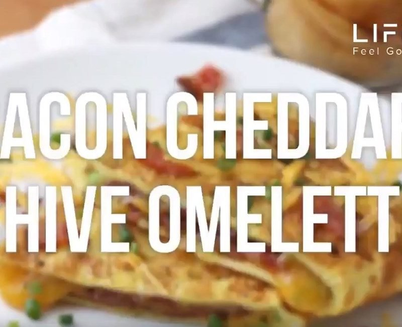 Bacon Cheddar Chive Omelette