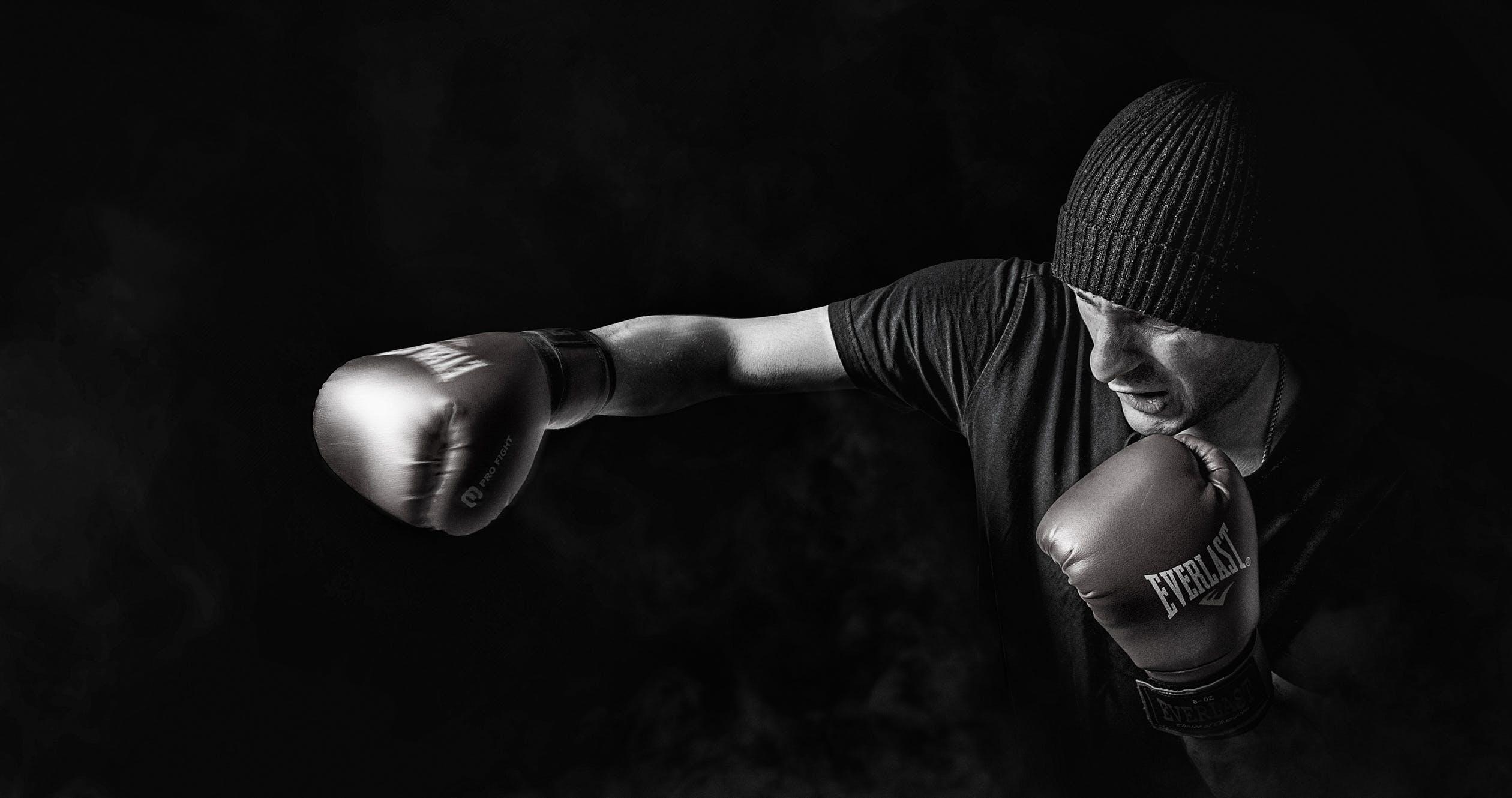 box sport men training